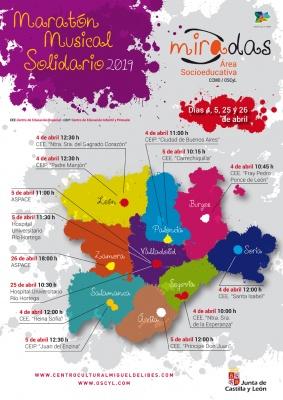 cartel Maratón musical solidario 2019